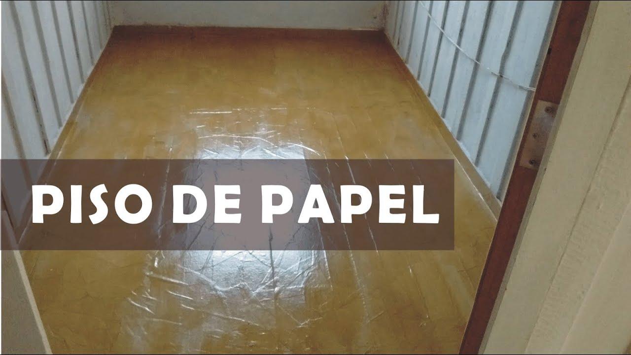 Piso de papel craft uma alternativa para renovar ou - Papel vinilico para paredes ...
