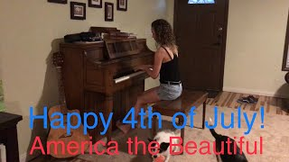 Happy 4th! America The Beautiful in March and Ragtime Piano