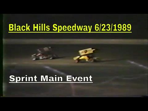 Black Hills Speedway 6/23/89  Sprint Main Event