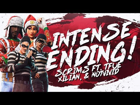 MOST INTENSE ENDING! Squad Scrims Ft. Tfue, NotVivid & Xil (Fortnite BR Full Match)