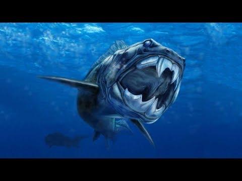 Дунклеостей . Dunkleosteus - доисторическая  хищная рыба .
