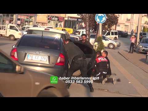 Karaman'da polisinde vurulduğu silahlı çatışma kamerada