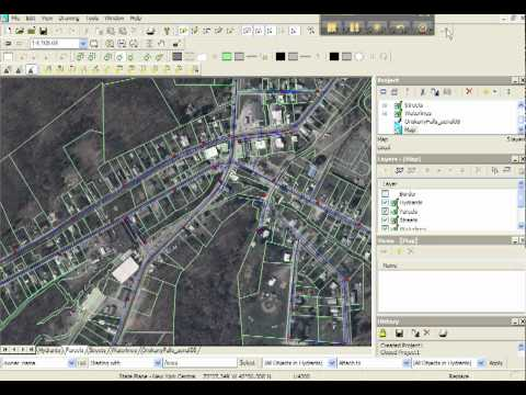 Desktop GIS software demonstration
