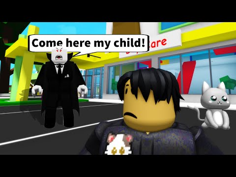 CREEPY VAMPIRE DAD adopted me in ROBLOX BROOKHAVEN