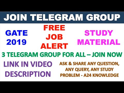 JOIN TELEGRAM GROUP FOR GATE2019/FREE JOB ALERT/STUDY MATERIAL