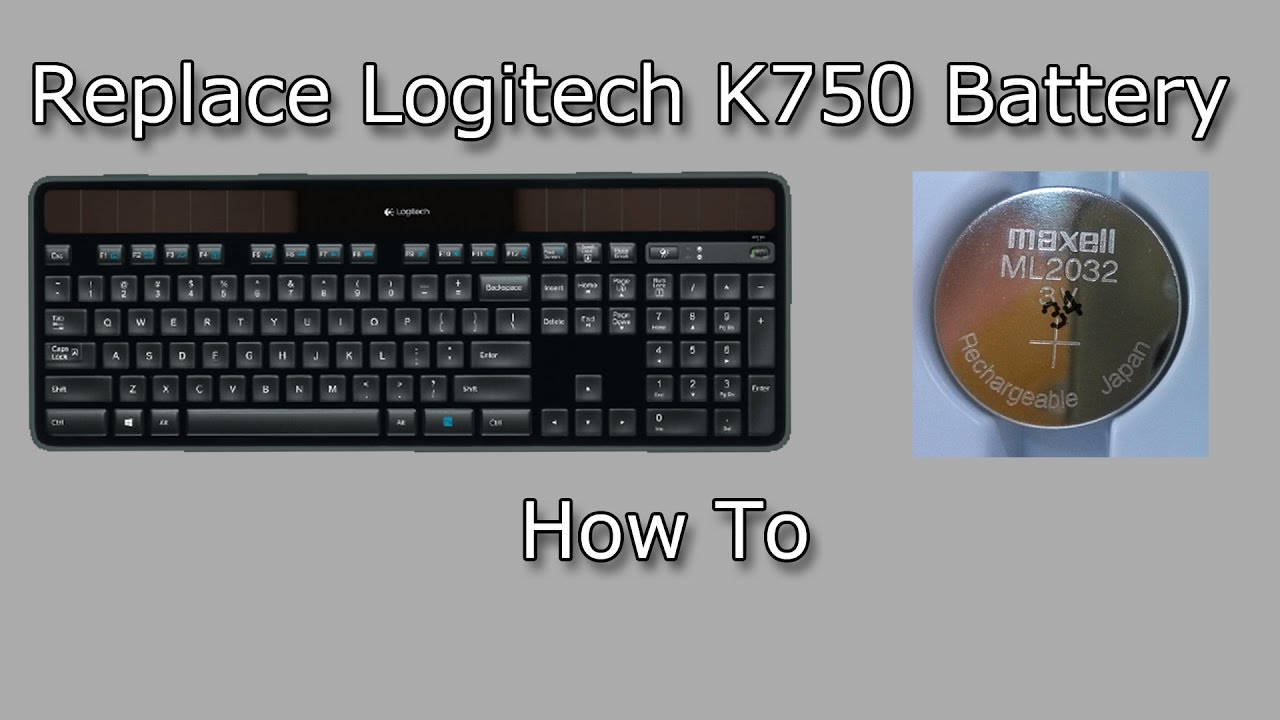 c3c09a383da Replacing Battery in the Logitech Wireless Solar Keyboard K750 (How To)