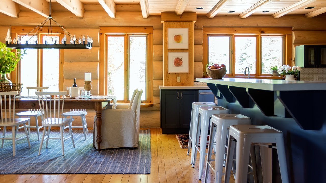 Makeover: An '80s Log Cabin Gets A Fresh New Look on