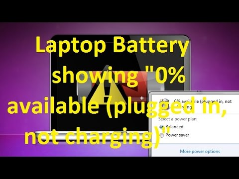 laptop battery showing 0 available plugged in not charging youtube. Black Bedroom Furniture Sets. Home Design Ideas
