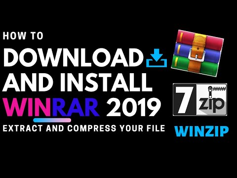 How To Download And Install WinRar, 7zip, WinZip Extract Your File