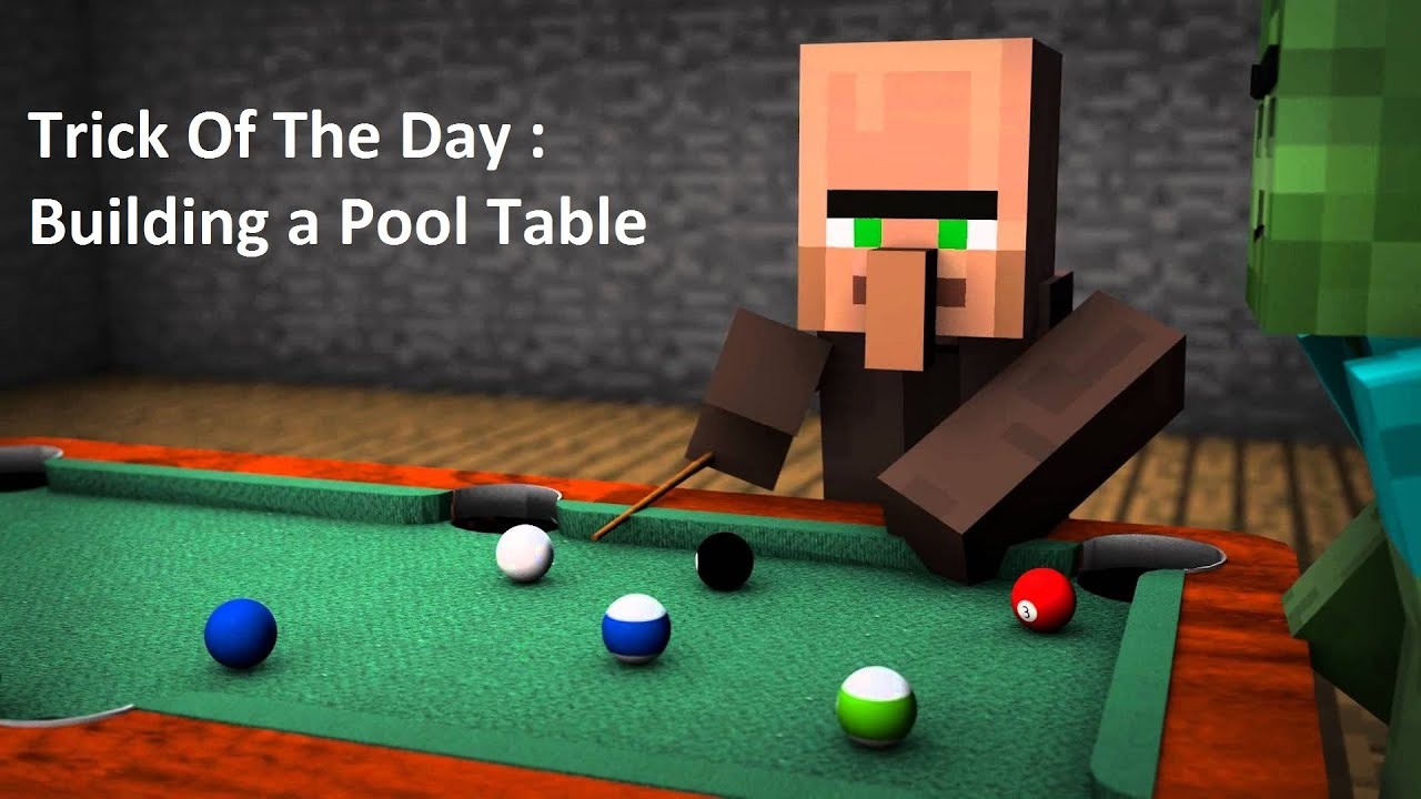 Minecraft : Trick Of The Day / How To Build A Pool Table