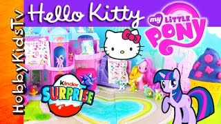 My Little Pony Hello Kitty Shopkins SURPRISES! Princess Disney Blind Bags Play-Doh by HobbyKidsTV