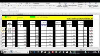 Excel Dienstplan New York kostenlos dienstplan maschine