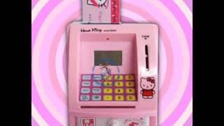 Celengan Lucu ATM Mini Hello Kitty | Ajarkan anak menabung