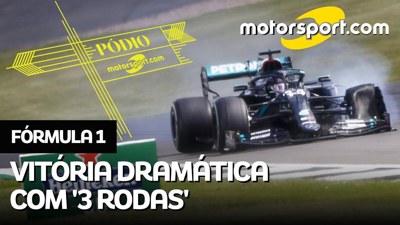 GP maluco com vitória de Hamilton em 'três rodas'! Veja debate épico de Cacá Bueno e Rico Penteado
