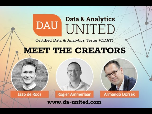 Meet the Creators and Authors or Data & Analytics Testing - Webinar recording.