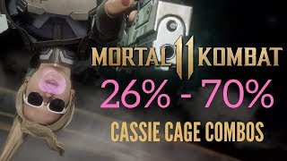 INSANE CASSIE CAGE COMBOS AND SETUPS -  Mortal Kombat 11