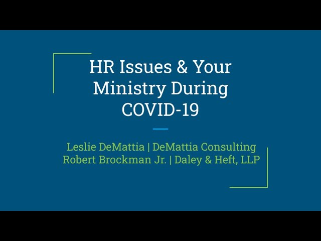HR Issues and Your Ministry During COVID-19 | Presented by Insurance Board