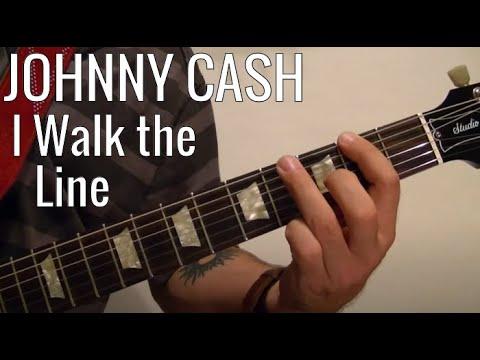 I Walk The Line Johnny Cash Guitar Lesson Beginners Youtube