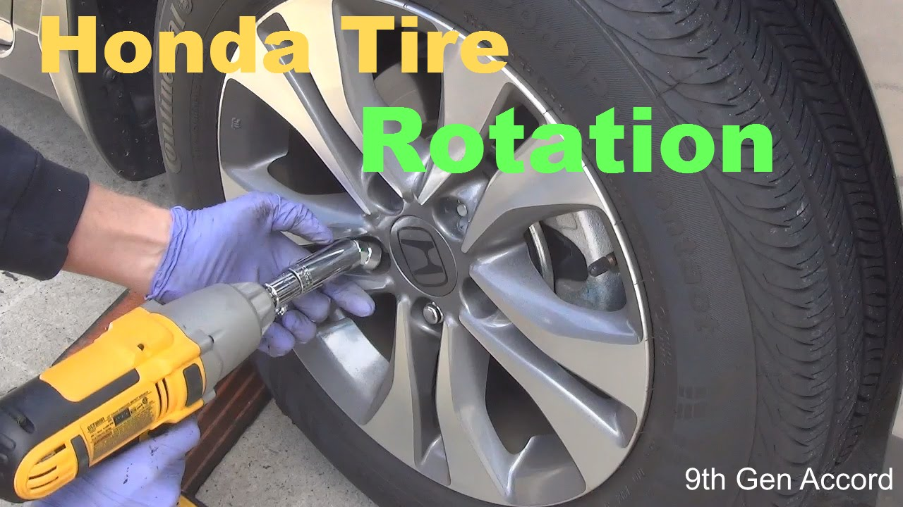 9Th Gen Accord >> How to rotate the tires on your Honda Accord 2016 2015 2014 2013 2012 - YouTube