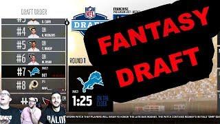 Madden 18 Franchise Episode 1 - NFL Fantasy Draft w/ Detroit Lions