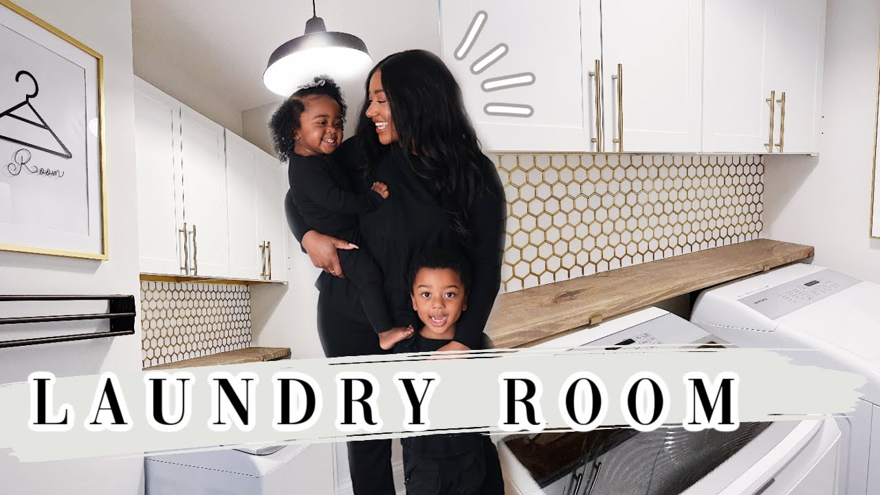 *EPIC* LAUNDRY ROOM TRANSFORMATION | DIY HOME UPDATE