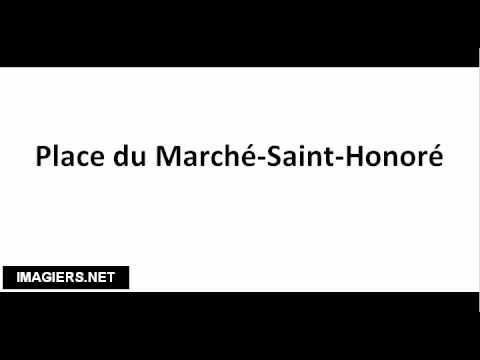 How to pronounce Place du Marché Saint Honoré
