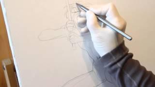 Уроки рисования - как рисовать человека, (героя) скетч(Наши уроки рисования помогут Вам научится рисовать человека в виде скетча. Главным образом данное видео..., 2015-06-14T14:52:45.000Z)