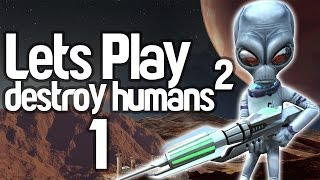 Destroy All Humans 2 PS4 Walkthrough Part 1 - Remastered/Enhanced Graphics Gameplay