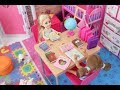 Barbie's Girls Chelsea Bedroom *Barbie Chelsea Study Table* Barbie Chelsea Cute Playground