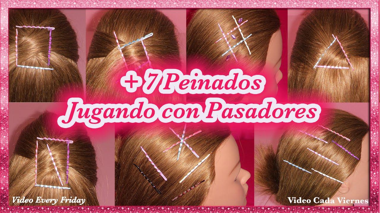 7 PEINADOS PARA CABELLO CORTO CON PASADORES  7 EASY