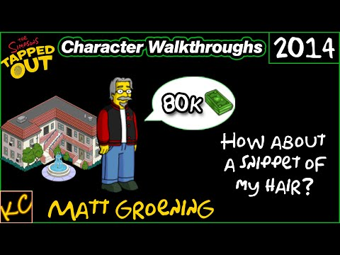 TSTO - Matt Groening | Character Walkthroughs (2014)