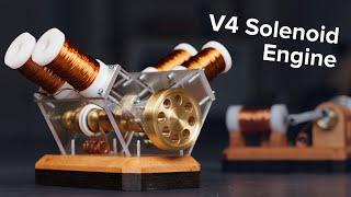 How to make a V4 solenoid engine