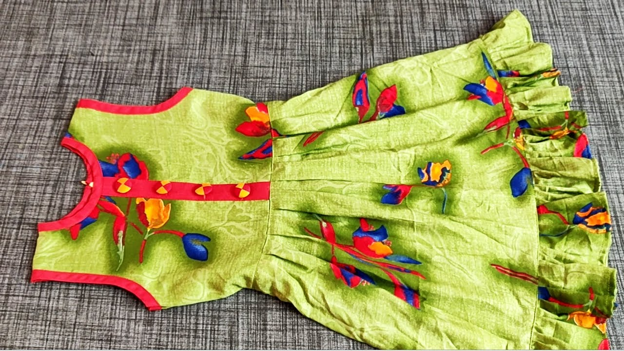 Beautiful Baby Frock Cutting And Stitching || Latest Baby frock Designs