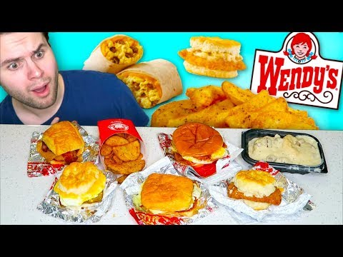 Wendy's Finally Got A BREAKFAST MENU And I Tried EVERYTHING! - Fast Food Review