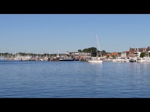 Travemünde, Germany: Trave, Hafen (Harbor), Priwallfähren (Priwall Ferries) - 4K UHD Video Image