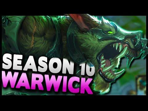 BEST JUNGLER IN PRESEASON 10! Warwick is TOO STRONG - League of Legends Gameplay