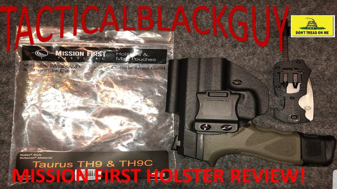 TAURUS TH9C MISSION FIRST HOLSTER REVIEW IN 4K! - YouTube