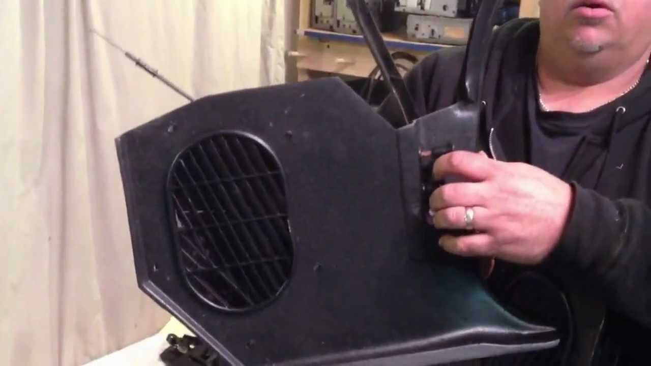 Parts Of A Speaker Diagram 2003 Ford Focus Radio Wiring 1970-1981 Non Ac Kick Panels Camaro Black - Youtube