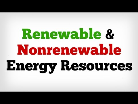 Renewable and Nonrenewable Energy Resources [ AboodyTV ]