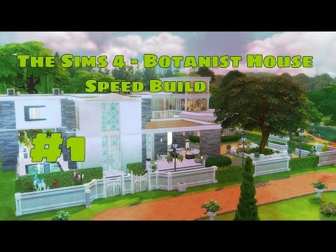 The sims 4 - Botanist house and conservatory | Speed build | Part 1 by AndySister