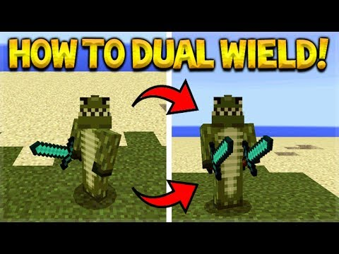 HOW TO DUAL WIELD ANY ITEMS IN MINECRAFT POCKET EDITION!
