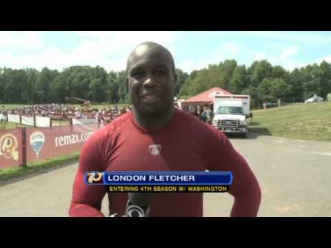NFL Training Camp 2010 - London Fletcher loves the Washington Redskins