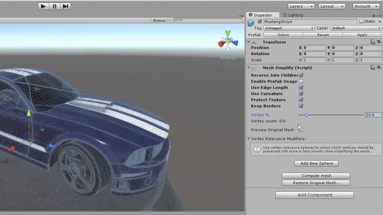 Mesh Simplify - Quickly reduce polygon count on your 3D