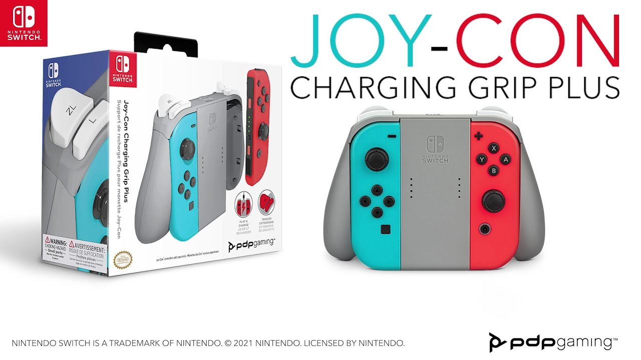 PDP Gaming Joy-Con Charging Grip Plus for Nintendo Switch