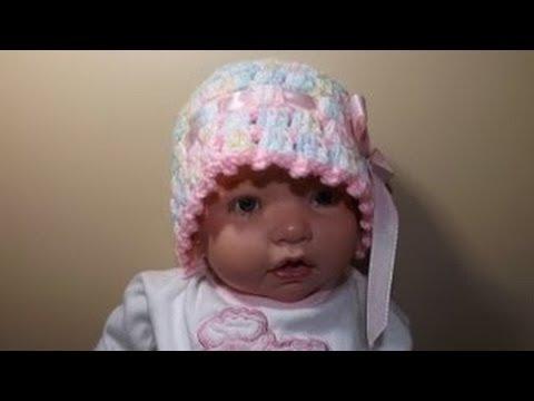Crochet gorro para Bebe de 0 a 3 meses - YouTube