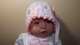 crochet gorro para bebe de 0 a 3 meses