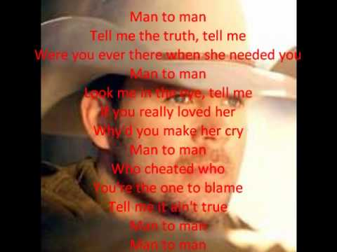 Man to Man (Lyrics)