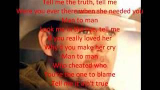 Download Man to Man (Lyrics) Mp3 and Videos