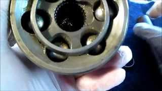 Removing Ball Bearings From CV Shaft Outer End