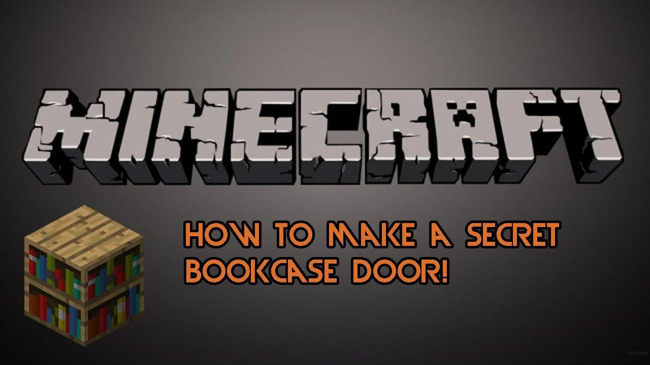 Minecraft How To Make A Secret Bookcase Door